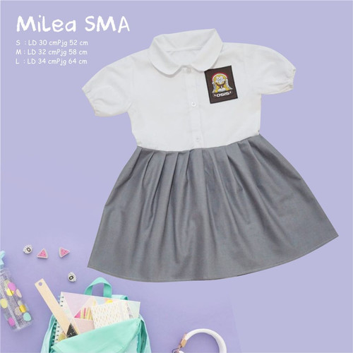 Foto Produk Baju SMA DILAN MILEA   Dress Kekinian Dilan Milea   Dress SMA Anak - SMA, Size S dari B_BabyStore
