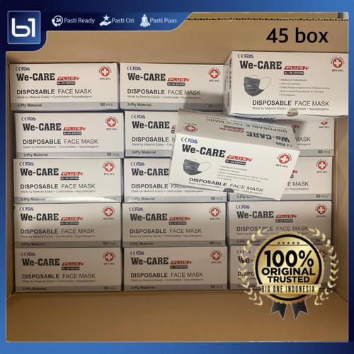 Foto Produk Masker 3Ply HITAM BFE 95, Masker Hitam Earloop GROSIR 45 BOX Plusmed dari BigOneIndo