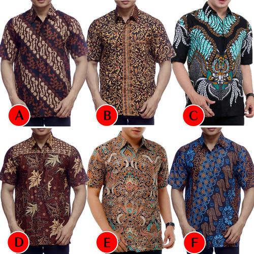 Foto Produk Kemeja Batik Pria Murah Lengan Pendek   Baju Batik Pria   Kemeja Pria dari Pitoo Batik