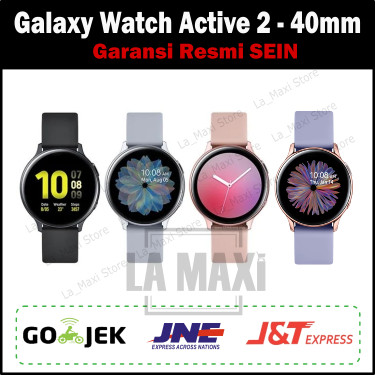 Foto Produk Samsung Smartwatch Galaxy Watch Active 2 Aluminum 40mm Garansi SEIN - Cloud Silver dari La_Maxi Store