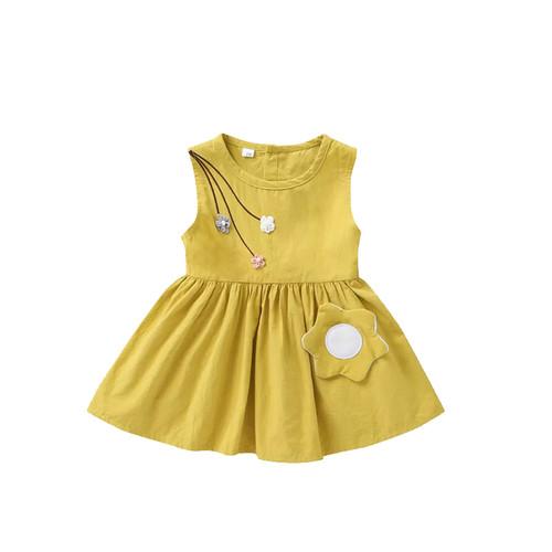 Foto Produk Eggo Dress - Yellow / Terusan Bayi / Baju Bayi - 9-12 Bulan, Kuning dari Abby Baby