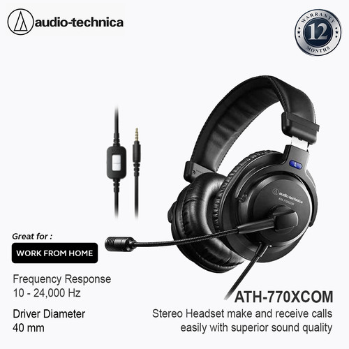 Foto Produk Audio-Technica ATH-770XCOM Stereo Headset Black dari Audio-Technica Official