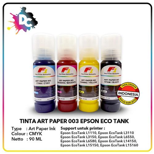 Foto Produk Tinta Art Paper Epson 003 F1 Ink 90ml set CMYK dari Dunia Cetak