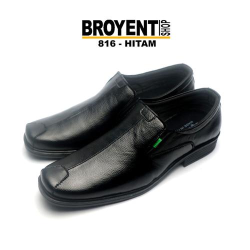 Foto Produk Sepatu Pantofel Pria Kulit 816 - Hitam, 39 dari Broyent-shop