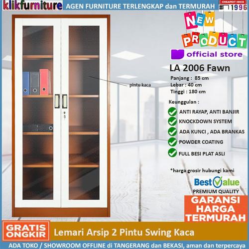 Foto Produk Lemari Arsip Besi Pintu Kaca FC 2006 SAPPORO JENA Coklat dari klikfurniture