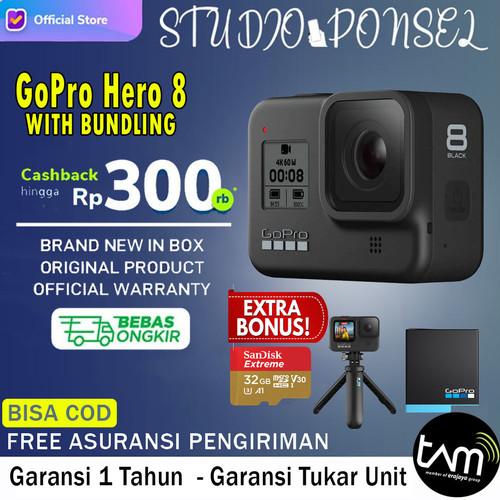 Foto Produk GoPro Hero 8 / Go Pro Hero 8 / Hero8 Black Action Camera - Gopro Hero 8, Garansi Inter dari Studio Ponsel