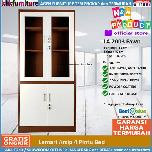Foto Produk Lemari Arsip Filing Cabinet Besi 4 Pintu FC 2003 Coklat dari klikfurniture