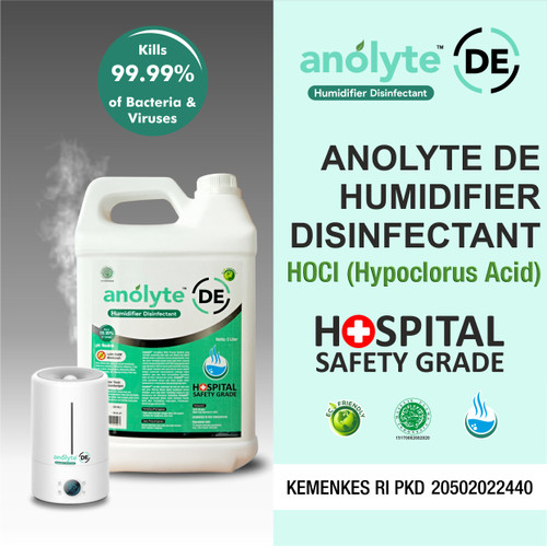 Foto Produk Anolyte DE Humidifier 5L. Air Purifier Diffuser, Disinfektan Humidifer dari Jubilee Care