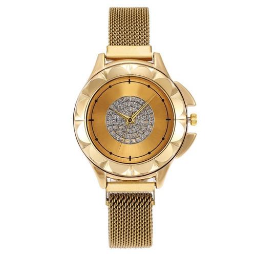 Foto Produk Semua Gratis-Jam Tangan Magnet Chanl / Jam Tangan Wanita / Jam Fashion - Gold dari Semua Gratis