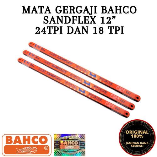 Foto Produk SANFLEX BAHCO MATA GERGAJI BESI 12 inch 18T 24T ASLI HOLOGRAM SILVER - 18T dari RATUABADISAFETY&TOOL