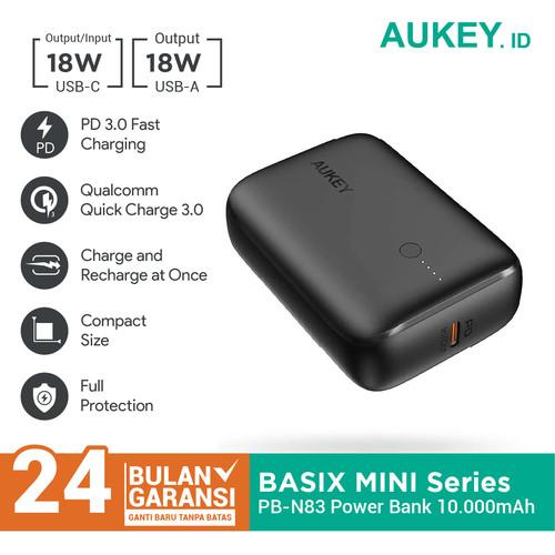 Foto Produk Aukey Powerbank Smallest PB-N83 10.000mAh PD 3.0 - 500714 dari AUKEY