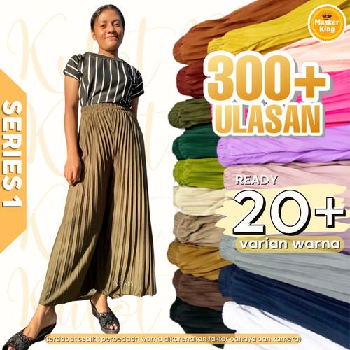 Foto Produk Rok Kulot Plisket / Rok Wanita / Celana kulot rempel panjang musliman - Hitam dari MASKERKING