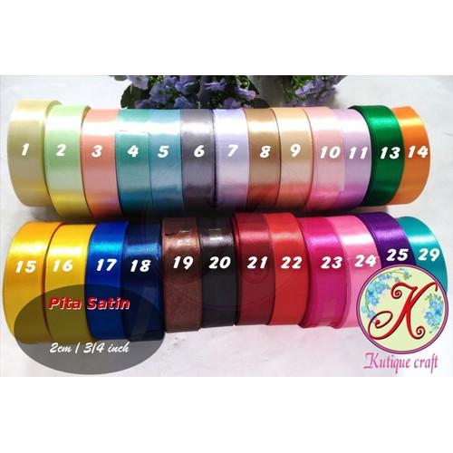 Foto Produk Pita Satin 3/4 Inch / 2 cm per slop (10 roll) dari Kutique Craft