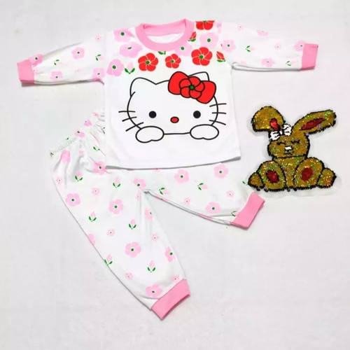 Foto Produk TERBARU SETELAN PIYAMA BAYI/BALITA LUCU2 MURAH BAGUS USIA 0-12 BULAN - pink dari Baju Tidur Bayi & Anak Libbabyshop