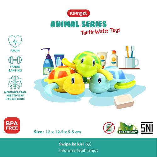 Foto Produk IQANGEL PENGUIN WATER TOYS / Mainan Air Pinguin / Mainan Mandi Anak - Turtle Water dari KSM Baby and Kids