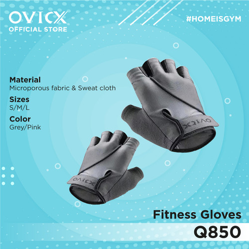 Foto Produk OVICX Q850 Fitness Gloves Gym - abu uk s dari Ovicx official store
