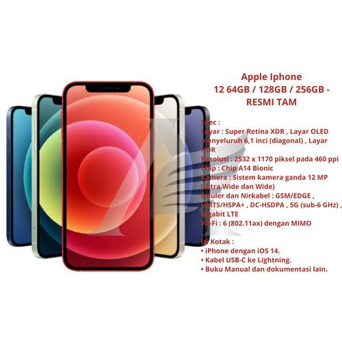 Foto Produk Apple Iphone 12 64GB / 128GB - Product GARANSI RESMI TAM - 64 gb, Biru dari ACS