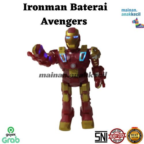 Foto Produk mainan anak cowok robot ironman iron man baterai avengers dari mainan.anakkecil