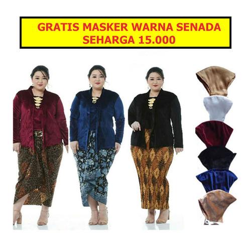 Foto Produk PO Kebaya Beludru Kutubaru Polos Bludru Super BIG SIZE JUMBO Custom - LD 120 dari Jogja Batik