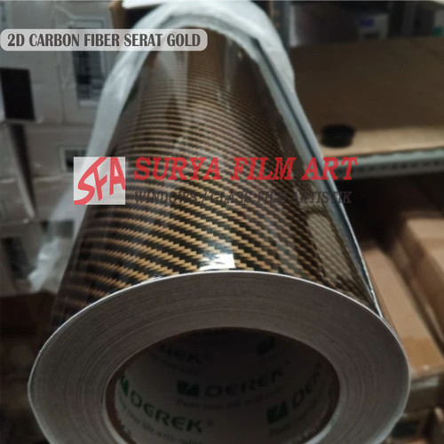 Foto Produk CARBON 5D 2D HITAM FIBER GLOSSY - 2D HITAM GOLD dari Stiker Kaca SFA