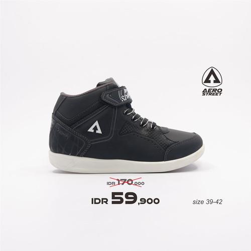 Foto Produk Aerostreet 39-42-Quantify-Hitam Abu-Sepatu Sneakers Pria - 39 dari Aerostreet