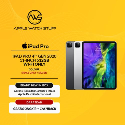 Foto Produk Apple iPad Pro 4th Gen 2020 11 Inch 512GB Wifi Only A12Z LiDaR Scanner - Space Grey dari applewatchstuff