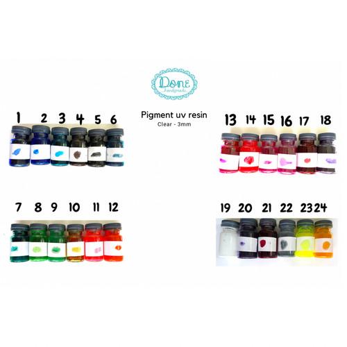 Foto Produk pewarna uv resin pigmen uv resin pewarna transparan pewarna resin - 1 dari done handymade