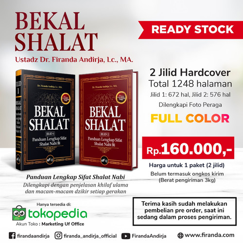 Foto Produk Buku Bekal Sholat / Ustadz Dr. Firanda Andirja, Lc. MA-Ready dari Marketing Uf Office