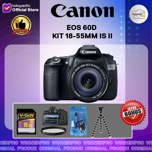 Foto Produk CANON EOS 60D KIT 18-55MM IS II dari Winner Pro