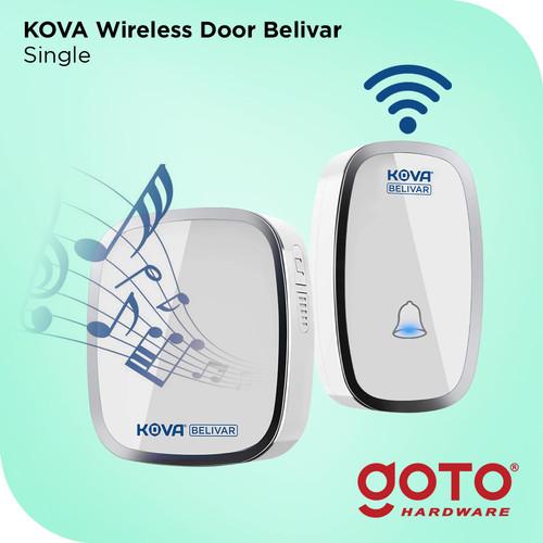 Foto Produk Kova Belivar Single Bel Alarm Rumah Kantor Pintu Wireless Door Bell Wa - Putih dari GOTO Hardware