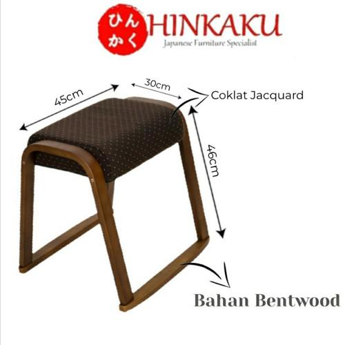 Foto Produk Kursi Jepang ST-045WP45 - Brown Jacquard dari Hinkaku Official