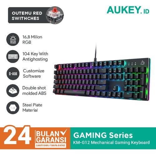 Foto Produk Aukey Keyboard Mechanical KM-G12 RGB with Outemu Red Switches - 500694 dari AUKEY