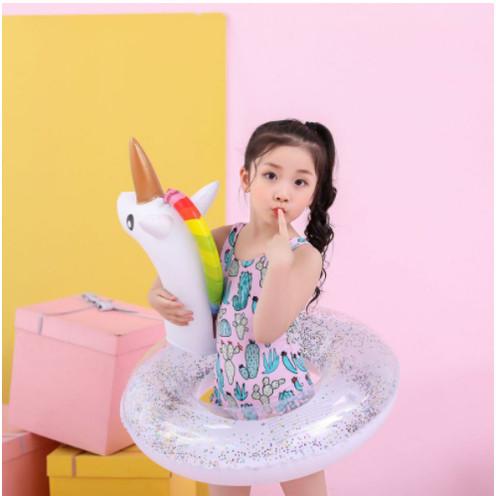 Foto Produk Ban Pelampung Sequins Glitter size 70 / Ban Renang Tiup Flamingo Merak dari Enilate