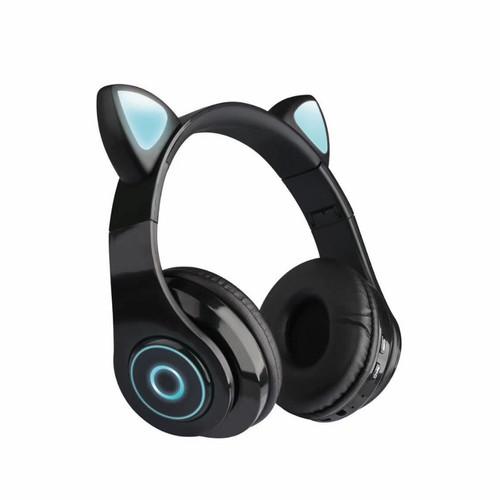 Foto Produk ❤️100% original❤️ headphone kucing bluetooth - black dari Koreanholicshop