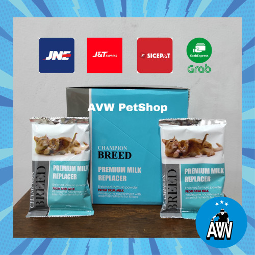 Foto Produk Susu Kucing / Susu Champion / Champion Breed Premium Milk Replacer dari AVW Pet Shop