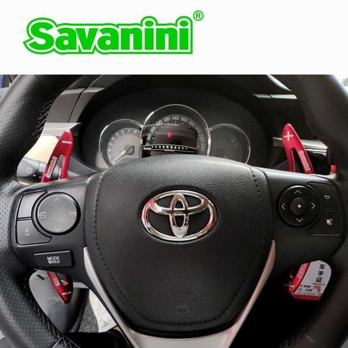 Foto Produk Savanini Paddle Shift Toyota Innova Camry Corolla Sienta Fortuner 2017 - Merah dari Gentleman Car