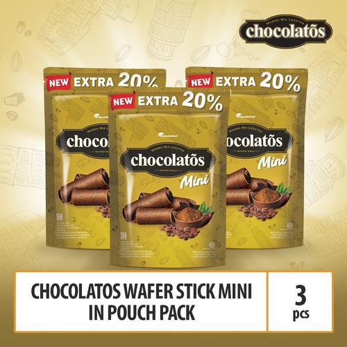 Foto Produk Chocolatos Wafer Stick Mini in Pouch Pack dari GarudaFood
