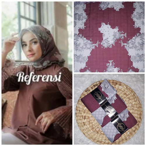 Foto Produk PART 7 Hijab segiempat Voal/ Deenay kw Super/ Kerudung motif murah - LC 131 dari lemary_nunna