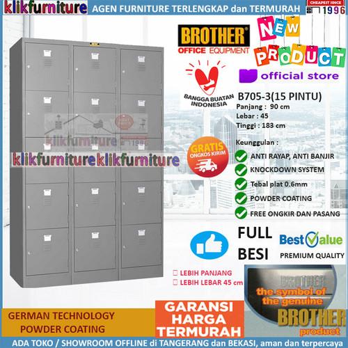 Foto Produk Loker Kabinet Locker Cabinet Besi 15 Pintu Besar B705-3 Brother dari klikfurniture