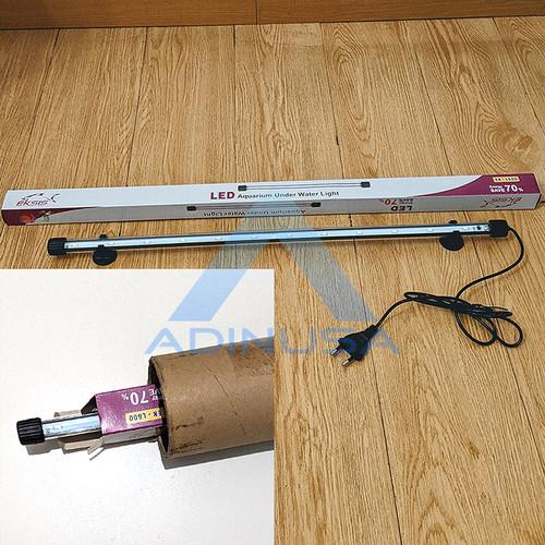 Foto Produk LAMPU LED CELUP L-600 UNDER WATER 60 CM | AQUARIUM AQUASCAPE AKUARIUM - Putih-Biru dari ADINUSA
