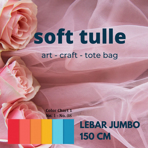 Foto Produk Kain Soft Tulle / Kain Soft Tile / Kain Mesh per 0.5 meter dari Toko Brukat