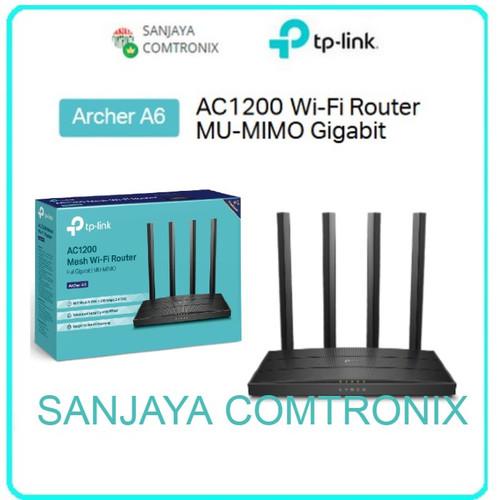 Foto Produk TP-LINK AC1200 Wireless MU-MIMO Gigabit Router Archer A6 dari SANJAYA COMTRONIX