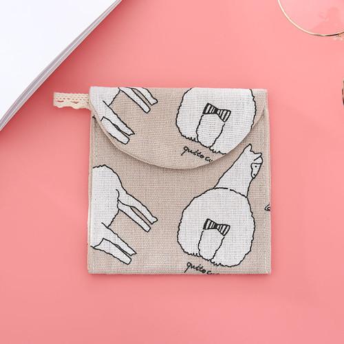 Foto Produk Sanitary pouch canvas sanitary pad pouch wallet dompet koin cosmetic - Alpaca dari Hellogorjes_