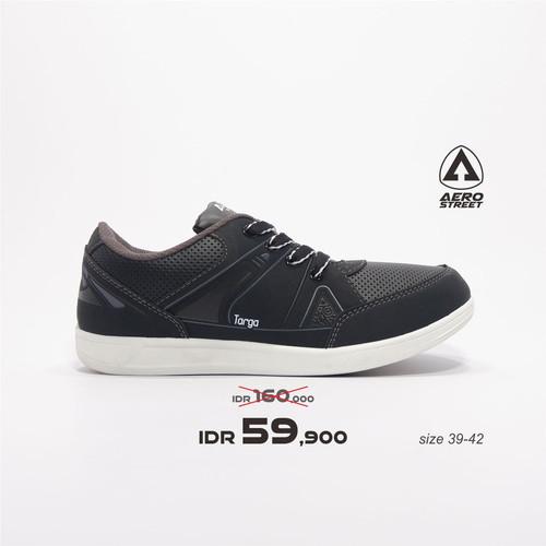 Foto Produk Aerostreet 39-42-Targa-Hitam Abu-Sepatu Sneakers Pria - 39 dari Aerostreet
