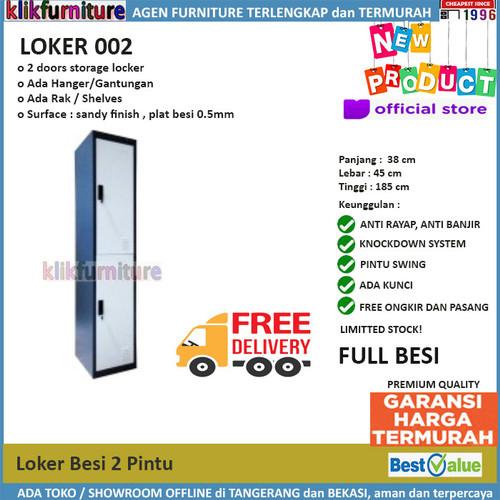 Foto Produk Lemari Loker Locker Cabinet 2 Pintu Full Besi LK002 dari klikfurniture