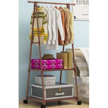 Foto Produk Stand Hanger Triangle Buku / Rak Pakaian / Rak Baju / Rak Serbaguna - Cokelat dari nippon shop