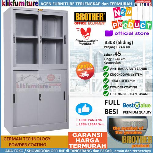 Foto Produk Lemari Arsip Filing Cabinet Besi 4 Pintu Sliding B 308 Brother dari klikfurniture