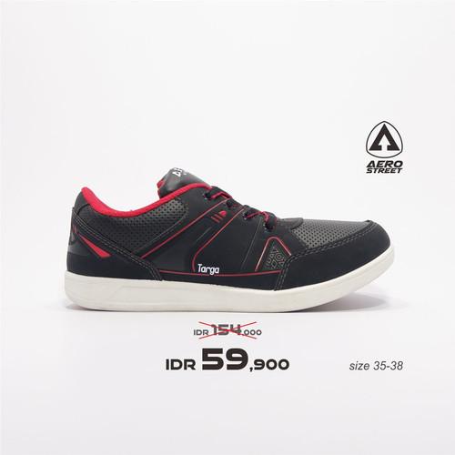 Foto Produk Aerostreet 35-38 Targa Hitam Merah - Sepatu Sneakers Pria Wanita - 35 dari Aerostreet