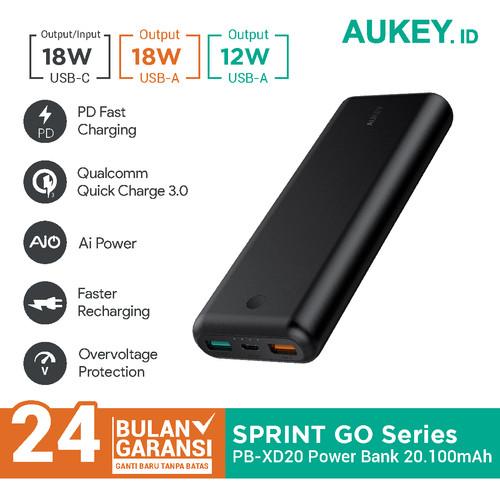 Foto Produk Aukey Powerbank 20100 mAh USB C PD 2.0 & QC 3.0 - 500276 dari AUKEY