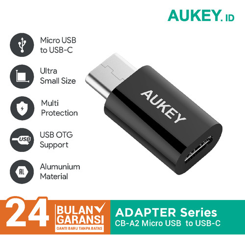 Foto Produk Aukey Adapter Micro USB to USB-C - 500343 dari AUKEY